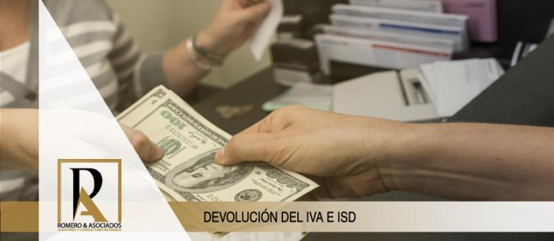 NUEVAS OPCIONES DE DEVOLUCIÓN DEL IVA E IMPUESTO A LA SALIDA DE DIVISAS (ISD)
