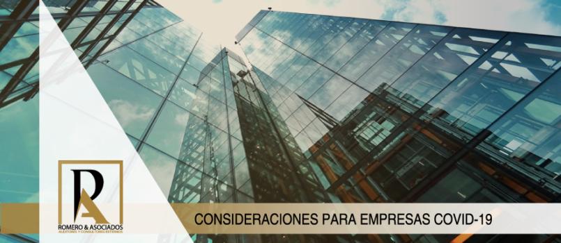 Consideraciones para Empresas COVID-19
